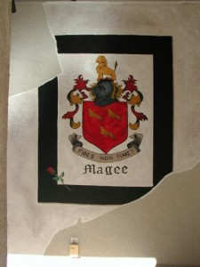 Old World Mural - Coat of Arms with Aged Plaster
