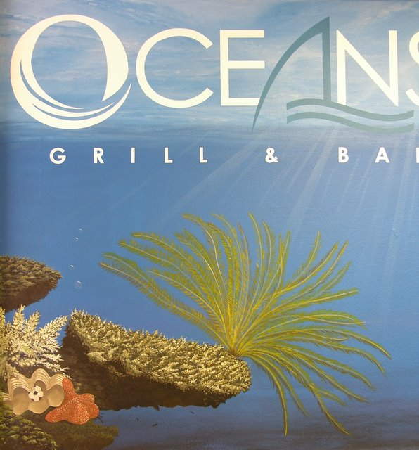 Commercial - Mural of Fish in Sports motif