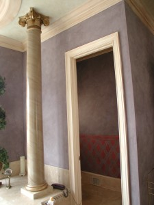 Texture - Venetian Plaster with Faux Marble Column