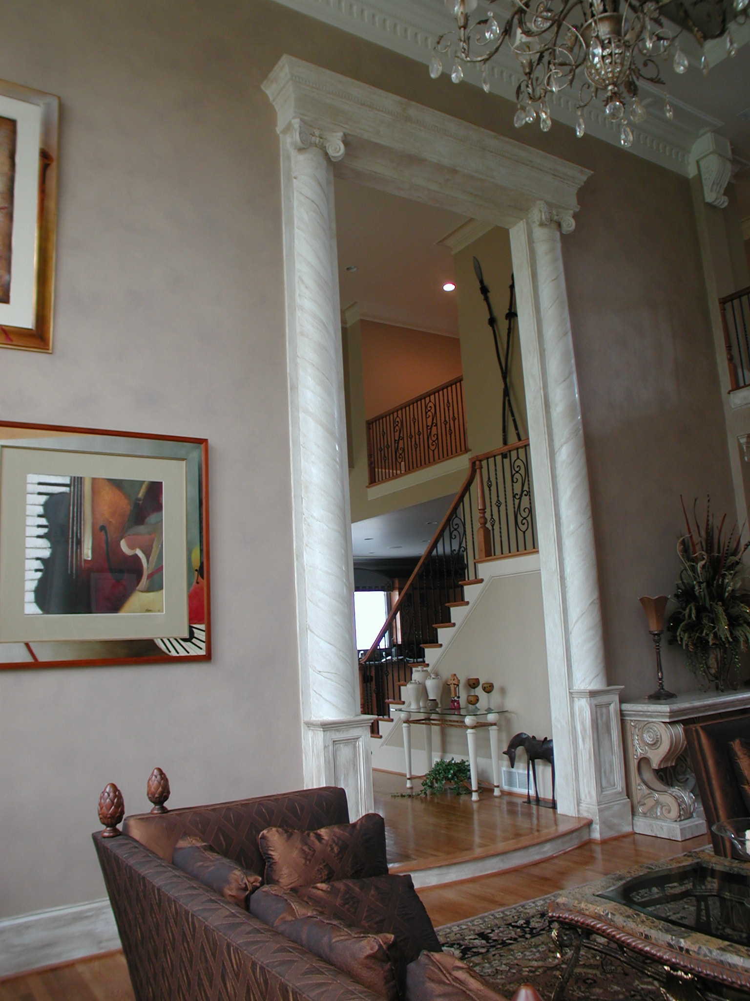 Faux Texture - Walls and Columns