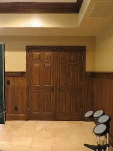 Faux Wood on Trim and Wainscoting