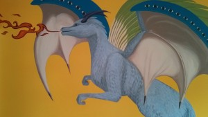 Kids Dragon Mural - Created with the help of Zaden