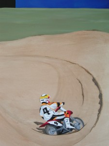 Kids Mural of Motorcross Motorcycle theme