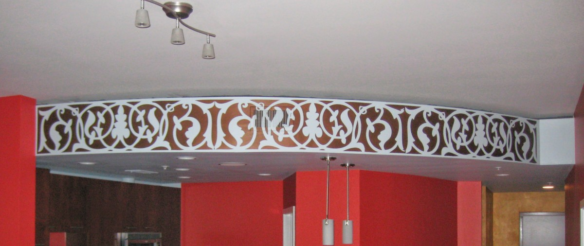 Metallic Bronze Accent Mural