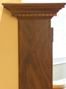 Faux wood on Fireplace
