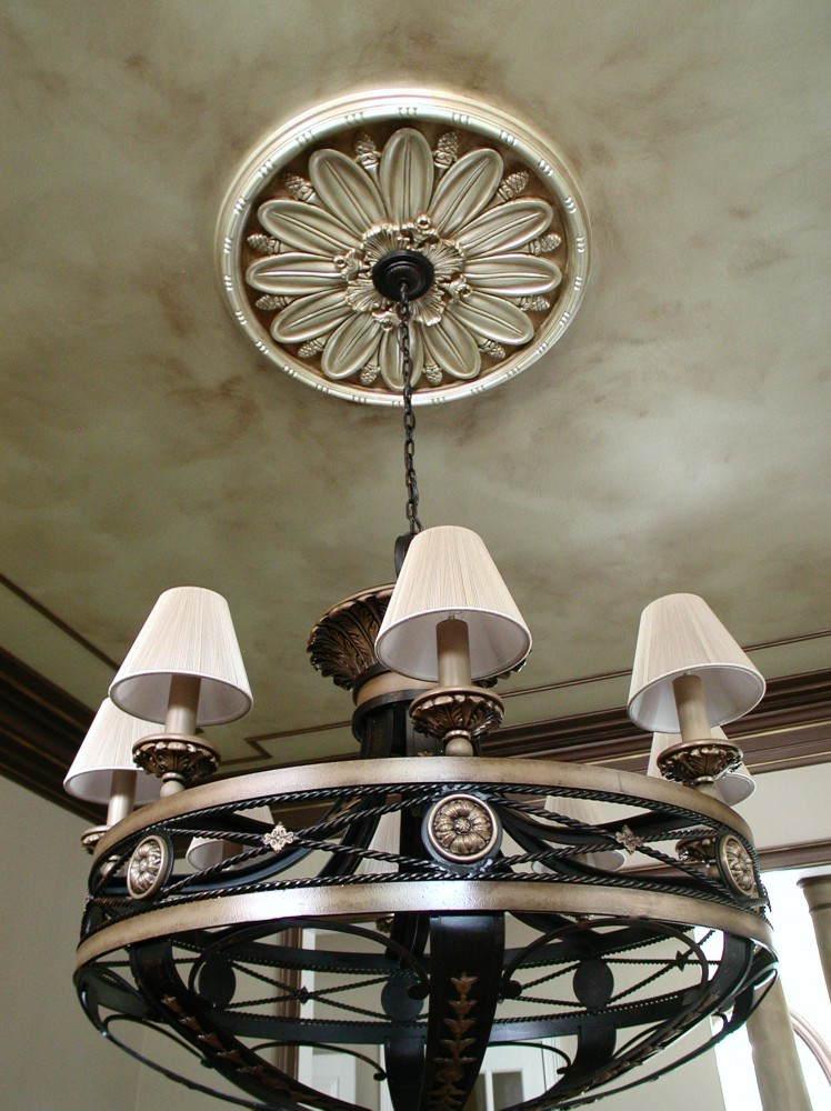 Metallic - Ceiling with Bronze wash