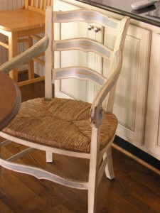 Chair with decorative embellishments