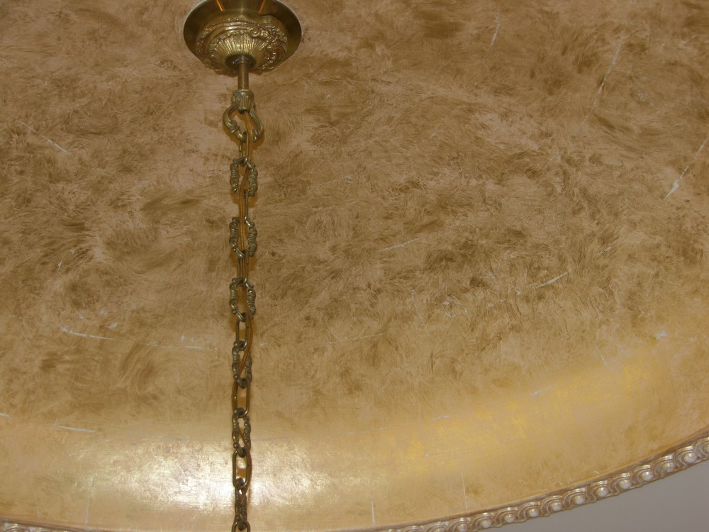 Metallic - Gold Leaf on ceiling with white wash