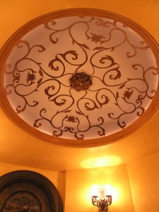 Pattern - Scroll Work in Barrel Ceiling - Old World