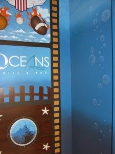 Commercial  - Mural of Company Logo and Filmstrip