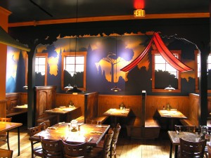 Commercial - Mural for kids and adults at Stone Mountain Restaurant