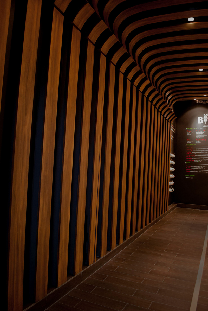 Commercial - Faux wood for Restaurant