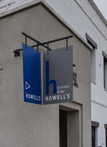 Signage for Howell's Restaurant