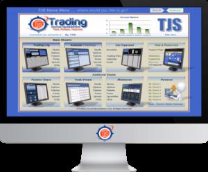 Monitor image of the TJS Elite Home Menu v8 version, in condensed mode
