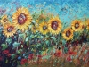 "Sunny Celebration 30""x48"" - textured oil painting"