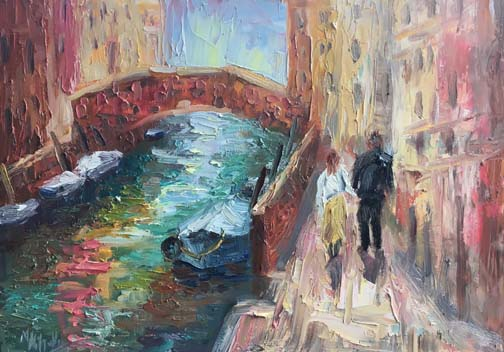Strolling the Canals, Venice