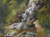 "Falling Water - 16"" x 12"" - textured oil painting"