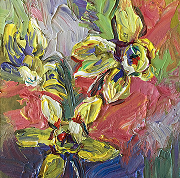 abstract floral, contemporary impressionist, daily painting, dallas texas artist, floral art, Niki Gulley paintings,