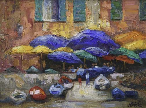Italy, contemporary impressionist, daily painting, dallas texas artist, travel art, Niki Gulley paintings,