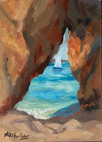 Portugal, contemporary impressionist, daily painting, dallas texas artist, travel art, Niki Gulley paintings