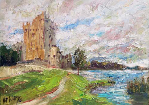 Ireland, contemporary impressionist, daily painting, dallas texas artist, travel art, Niki Gulley paintings