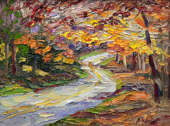 contemporary impressionist, daily painting, dallas texas artist, seasonal art, Niki Gulley paintings,