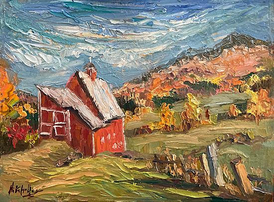contemporary impressionist, daily painting, dallas texas artist, seasonal art, Niki Gulley paintings,