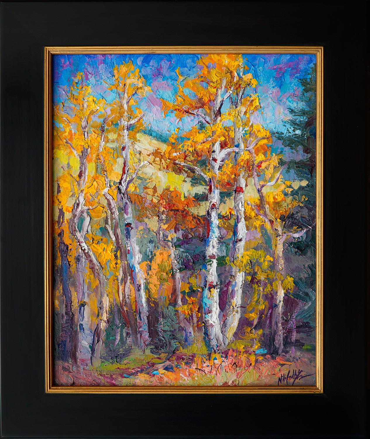 Niki Gulley, Dallas, aspen, contemporary impressionist, tree painting