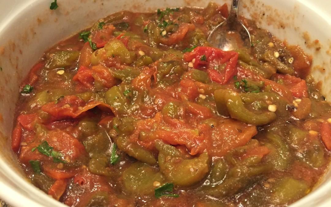 Moroccan Tomato and Pepper Salad (Slata)