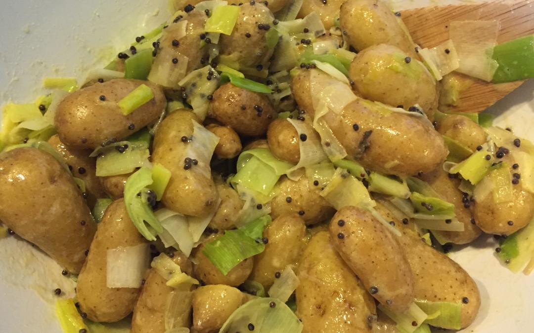 Leek and Fingerling Potato Salad