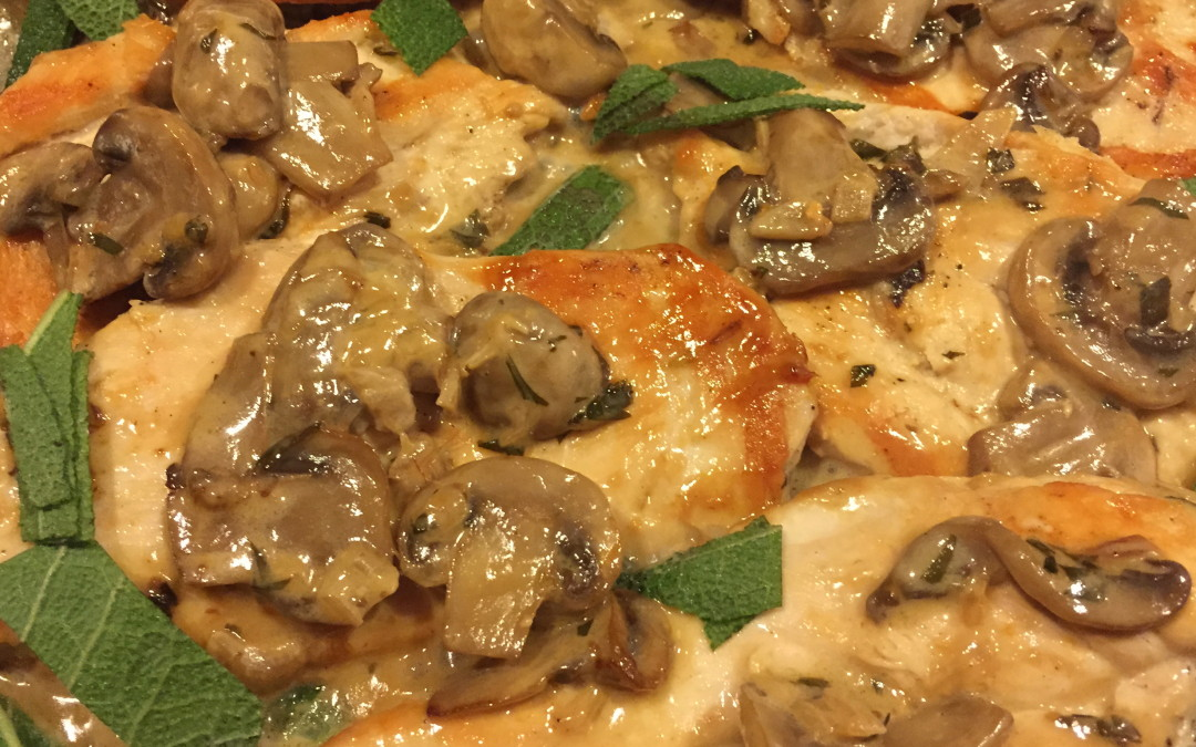 Chicken Cutlets with Sage and Mushrooms