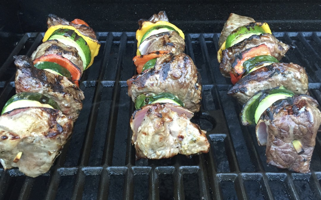 Steak and Veggie Kebabs
