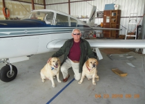 Jim with Barrys boys and plane