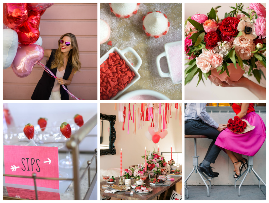 Valentine's Day, VDay, Galentine's Day, Recipes, Floral Arrangements, Bar Cart