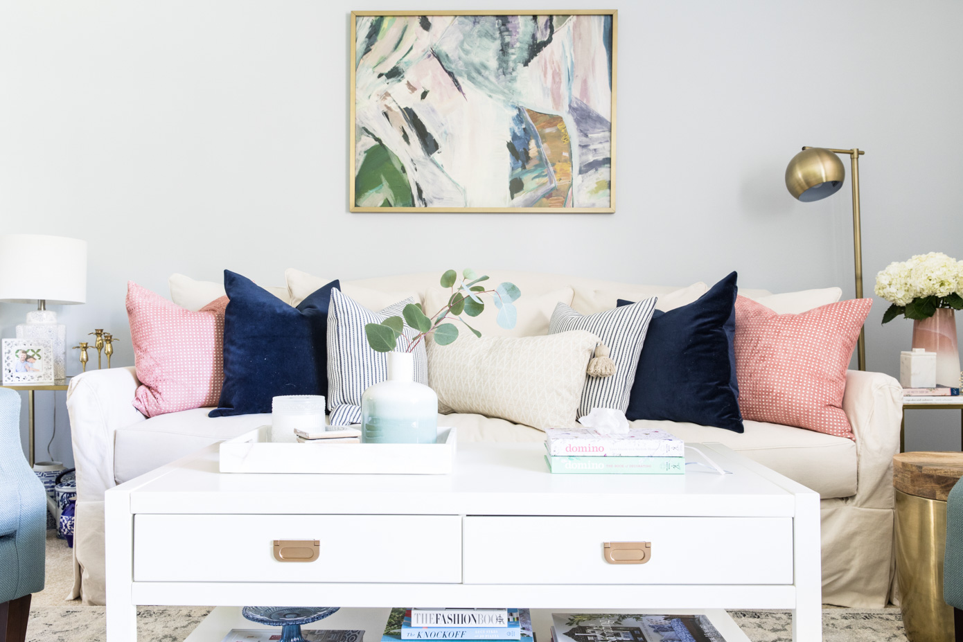 Glitter Guide x Louella Reese Home Reveal | Casual Feminine Decor | Louella Reese Life & Style Blog