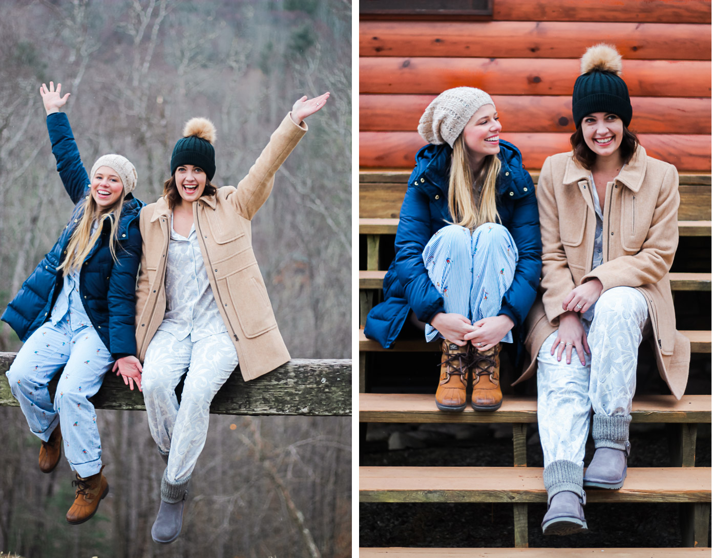 Mountain Weekend Essentials | Winter Pajama Sets | Louella Reese Life & Style Blog