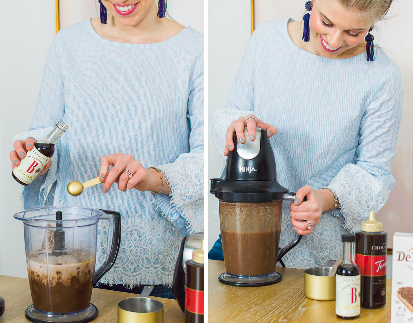 Homemade Frozen Hot Chocolate | Valentine's Day Dessert Idea | Louella Reese Life & Style Blog