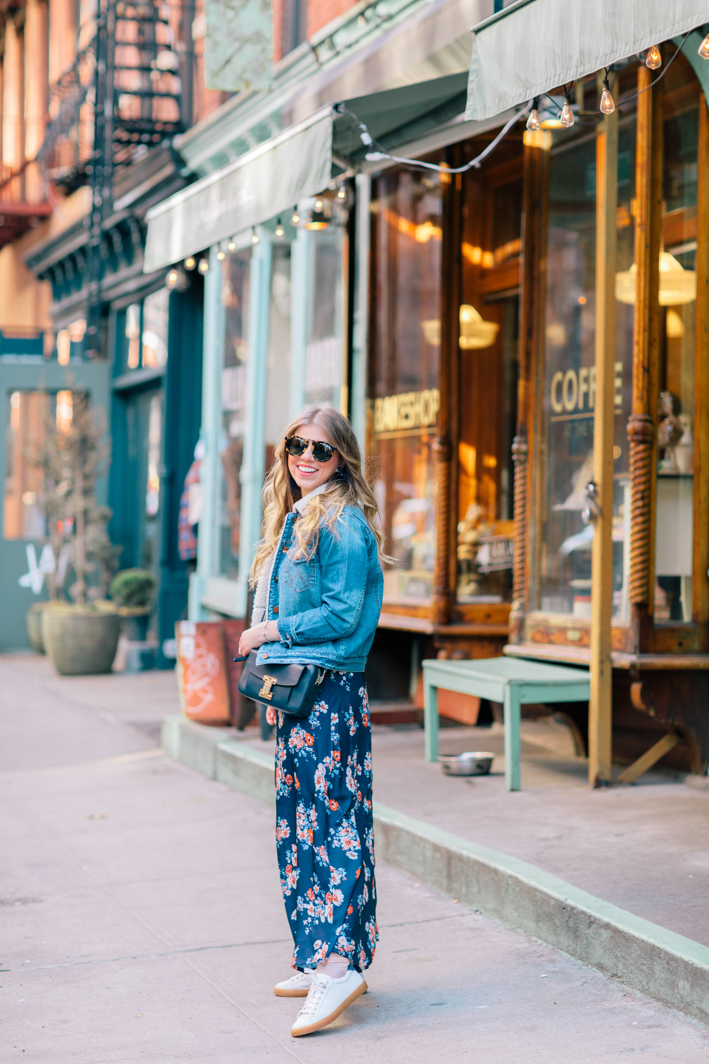 How to Wear Your Spring Dresses Now | Pairing a Maxi Dress with Sneakers | Louella Reese Life & Style Blog