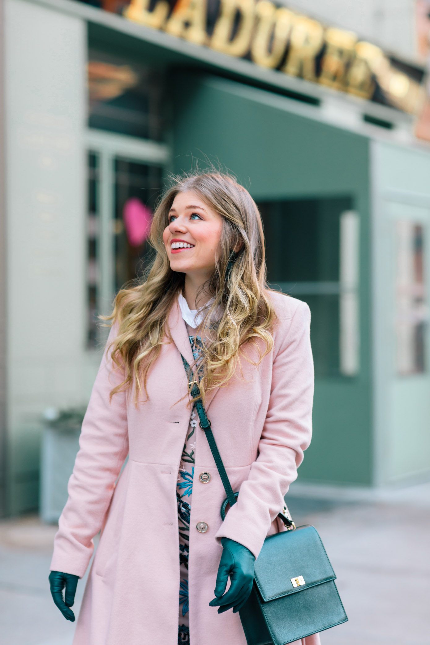 How to Bring Spring into Your Winter Wardrobe | Pink Wool Coat | Louella Reese Life & Style Blog