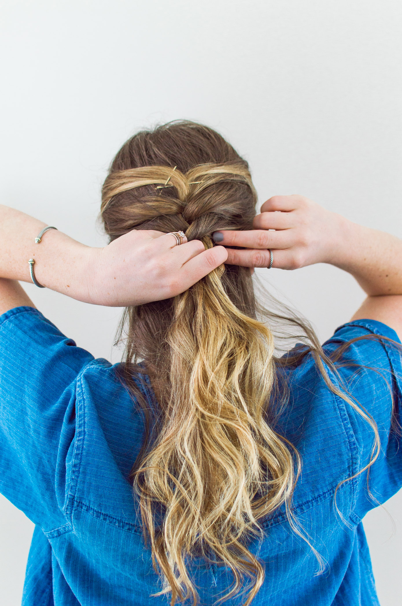 3 Hairstyles for NYFW | Feminine French Braid Half Up Hair Tutorials | Louella Reese Life & Style Blog