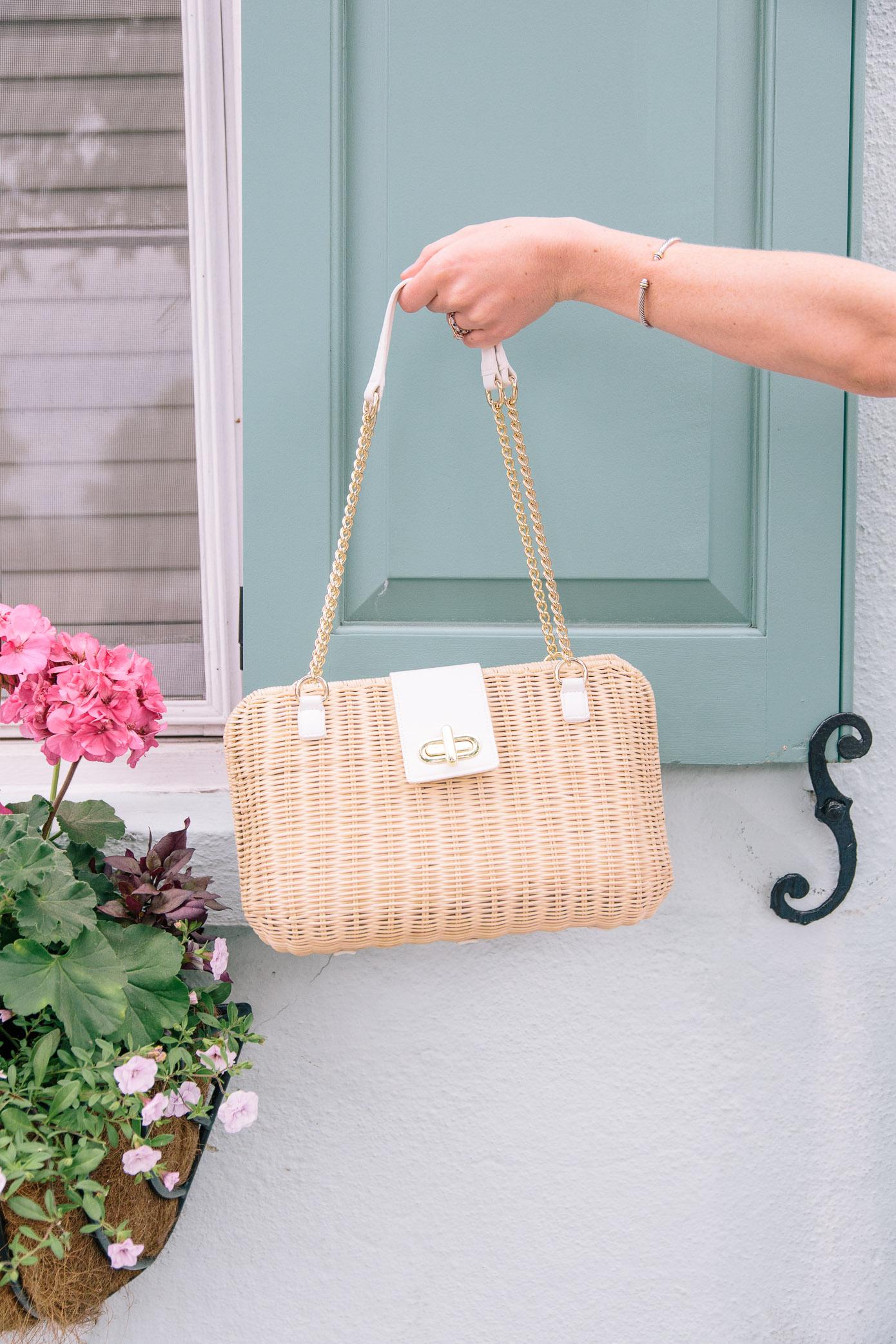 Chic Wicker Handbag | Talbots Friends & Family Event | Louella Reese Life & Style Blog