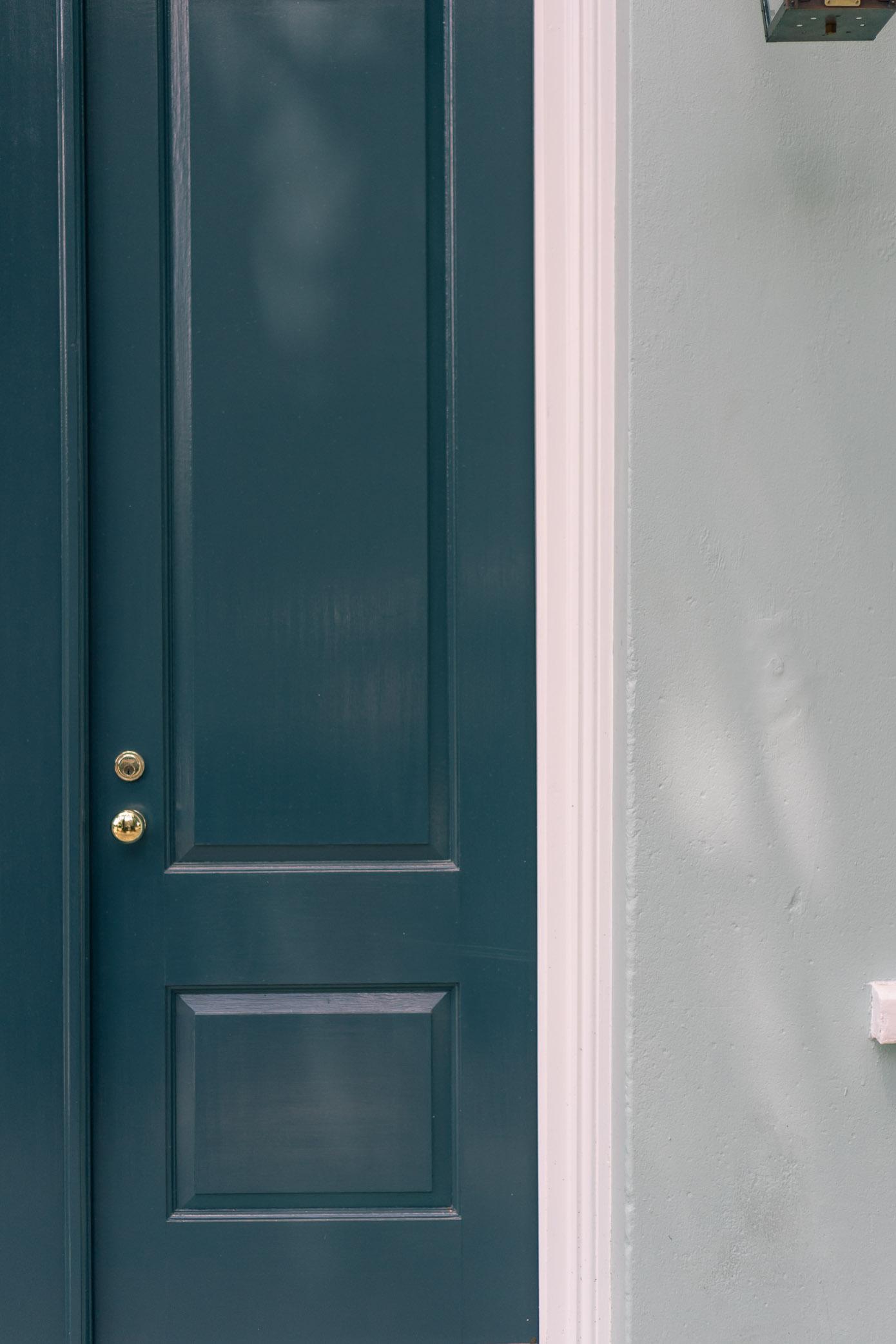Charleston Front Doors | Navy Blue Front Door | Louella Reese Life & Style Blog