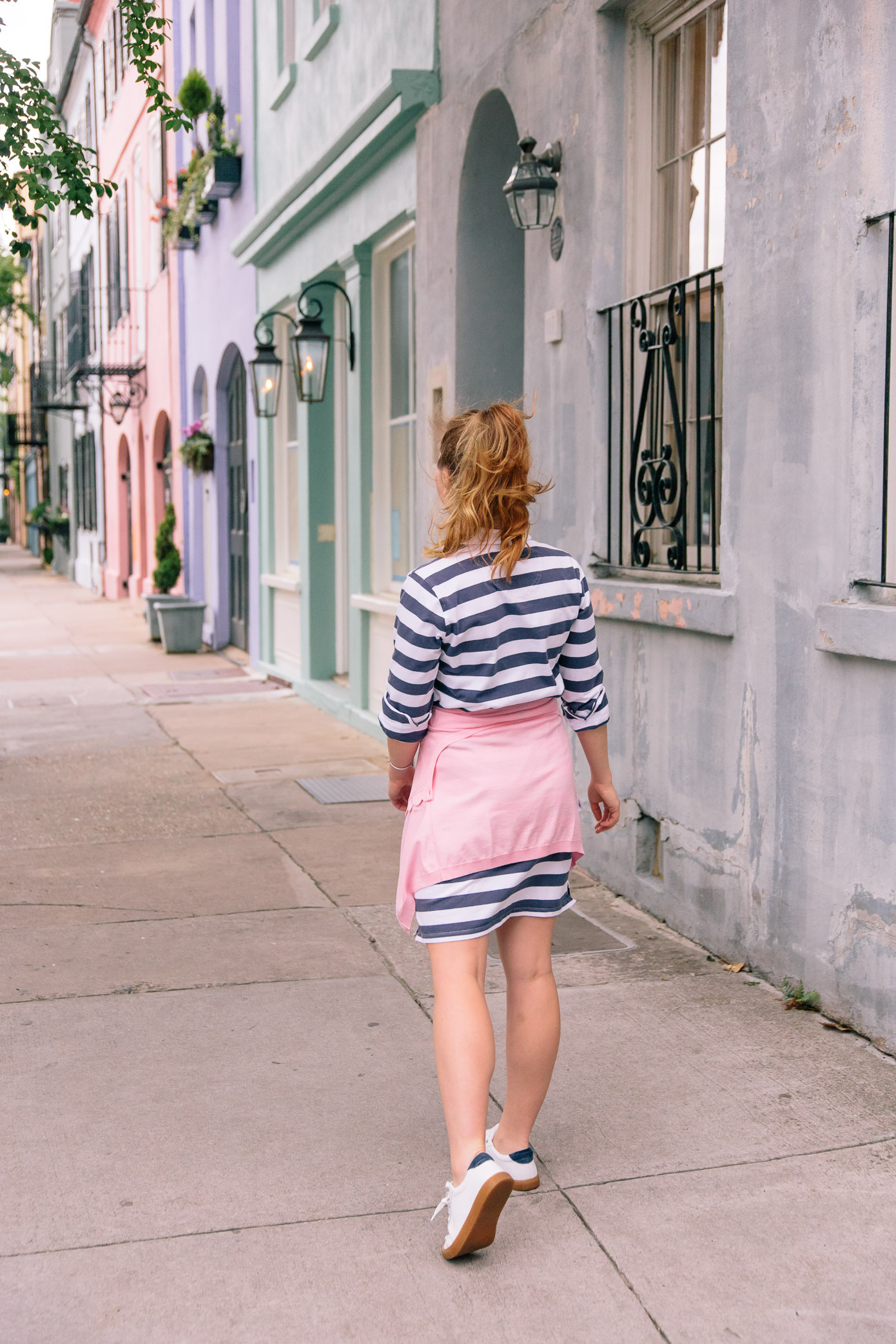 Striped Rugby Dress | Casual Spring to Summer Style | Louella Reese Life & Style Blog