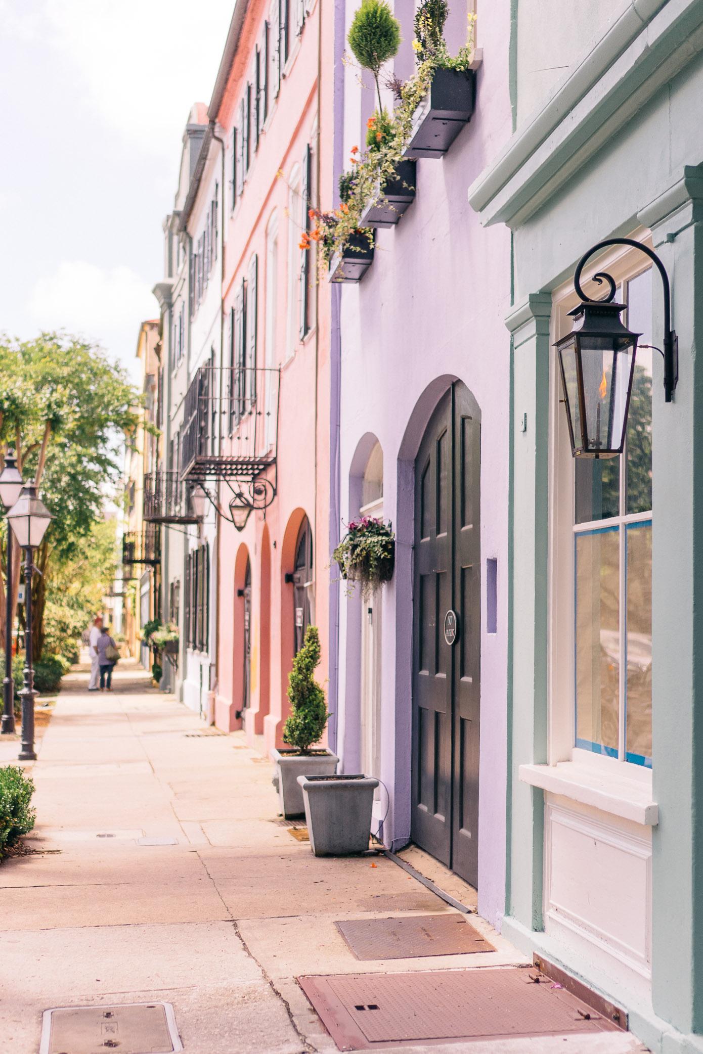 Rainbow Row Charleston | Southern Charm | Louella Reese Life & Style Blog