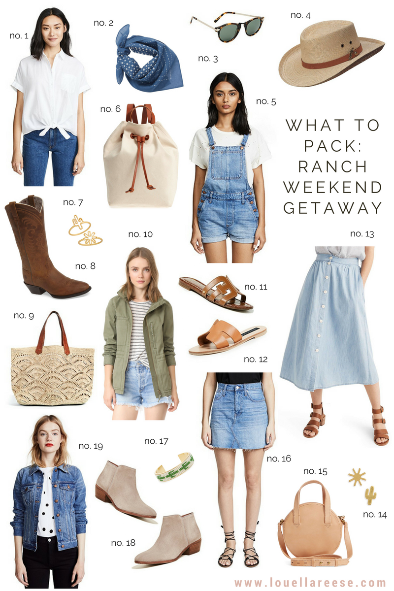 What to Pack for a Ranch Weekend Getaway | Louella Reese Life & Style Blog