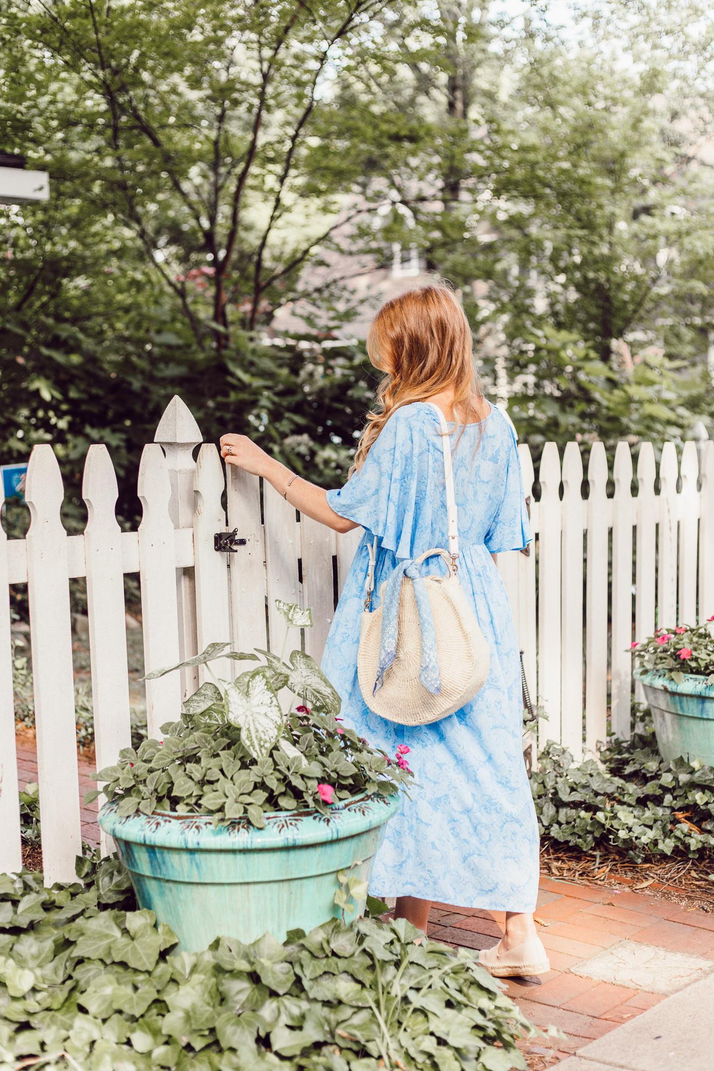 Light Summer Dresses 2018   Blue Kimono Dress for Summer styled on Louella Reese