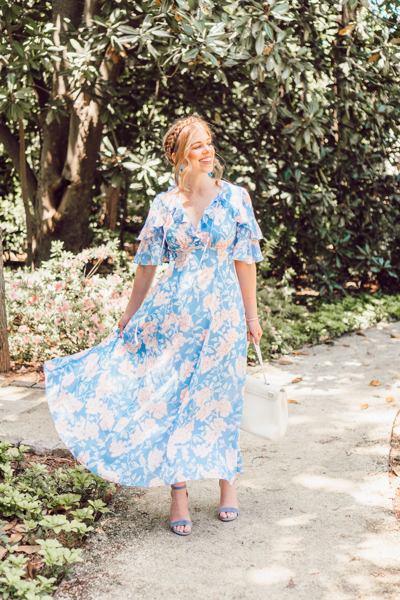 Gal Meets Glam Shelby Dress   Summer Wedding Guest Dress featured by popular Charlotte fashion blog, Louella Reese