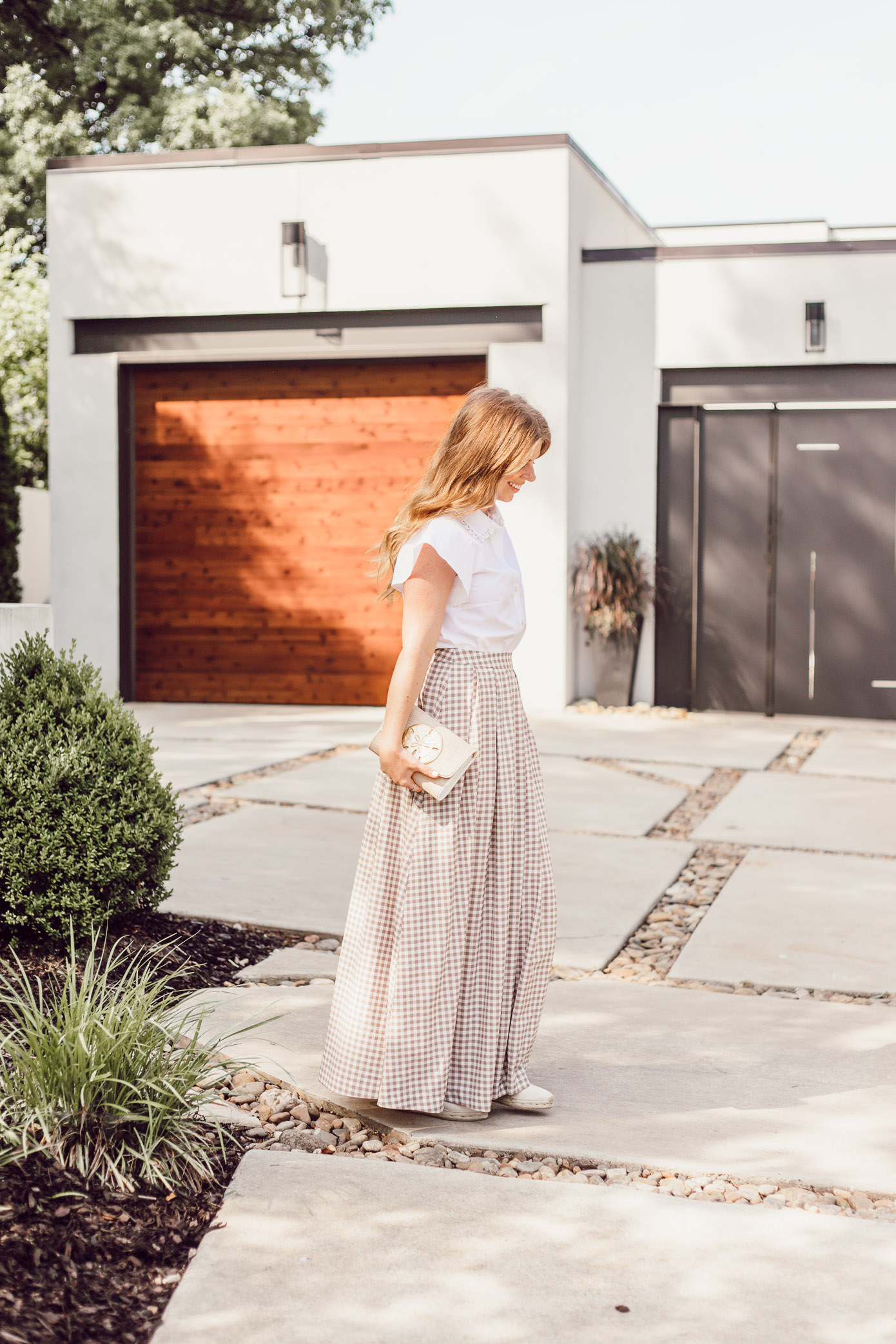 How to Style a Gingham Maxi Skirt this Summer - A Summer Gingham Maxi Skirt styled by Laura Leigh of Louella Reese #maxiskirt #gingham #southernstyle