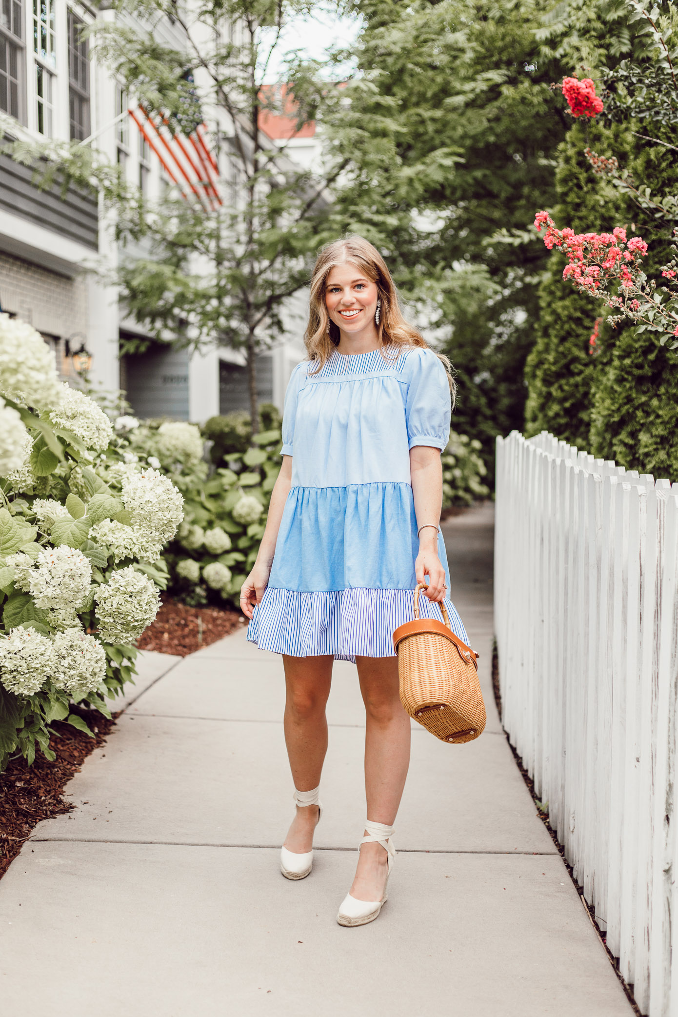 Everyday blue and white summer dresses that can be worn to any occasion   English Factory Summer Dress   Louella Reese
