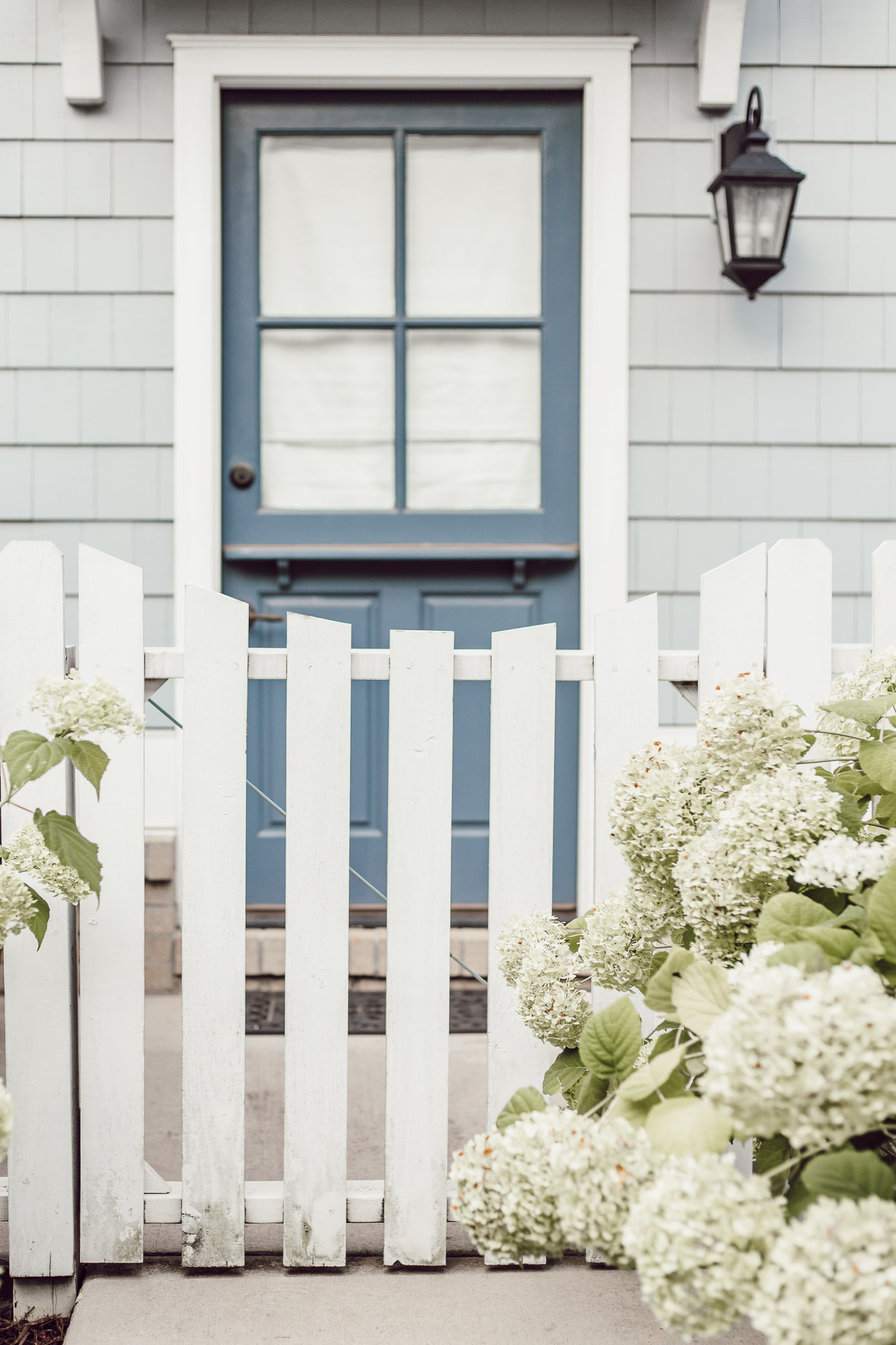 Blue Dutch Front Door   Charming Front Blue and White Front Porch Exterior   Louella Reese